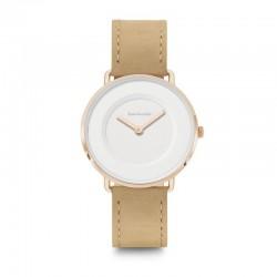 Lambretta 2251BEI  Suede Rose Gold White Beige Watch